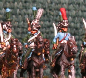 15mm, Napoleonic French Line Chasseur Blue Facings AB 12 figures